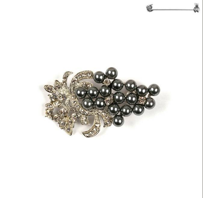 Something Special LA Brooch Pin - Gray Pearl