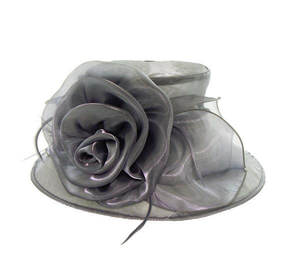 Something Special LA Medium Brim Crushable Shiny Hat Gray