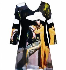 Valentina Signa 3/4 Sleeve Lycra Tunic A Sit in the Park Plus