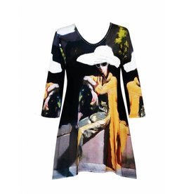 Valentina Signa 3/4 Sleeve Lycra Tunic A Sit in the Park