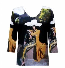 Valentina Signa 3/4 Sleeve Lycra Top A Sit in the Park