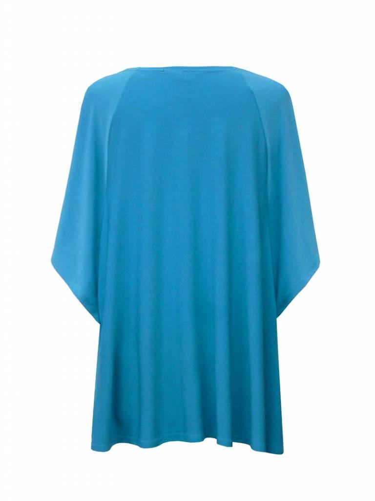 Valentina Signa Dolman Sleeve Solid Poncho