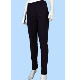 Pretty Woman Legging w/Rhinestone Cuff Black Plus