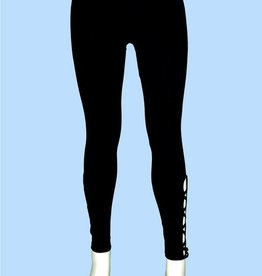 Pretty Woman Side Lattice Cuff Legging Black