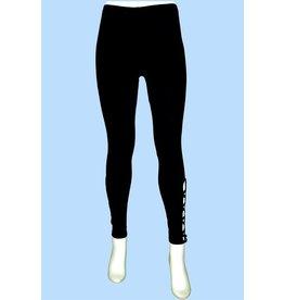 Pretty Woman Side Lattice Cuff Legging Black
