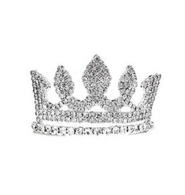 Golden Stella Mini Marquise Tiara Crown Crystal Clear