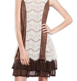 RYU Ruffle Trim Sequin Accent Dress