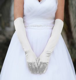 Something Special LA Long Satin Gloves Ivory