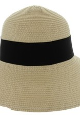 Something Special LA Natural Color Straw Hat with Black Bow