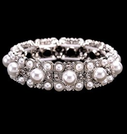 Something Special LA Pearl Casting Rhinestone Stretch Bracelet