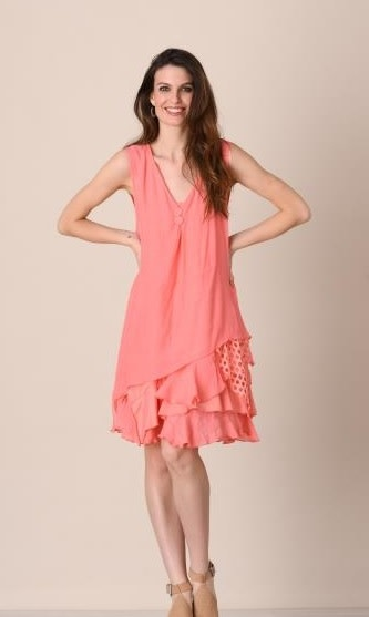 Pretty Angel Sleeveless Layered Bottom Dress-2pc