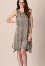Pretty Angel Silky Overlay 6 Button Neckline Dress
