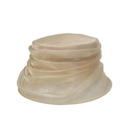 Packable Organza Cloche Champagne