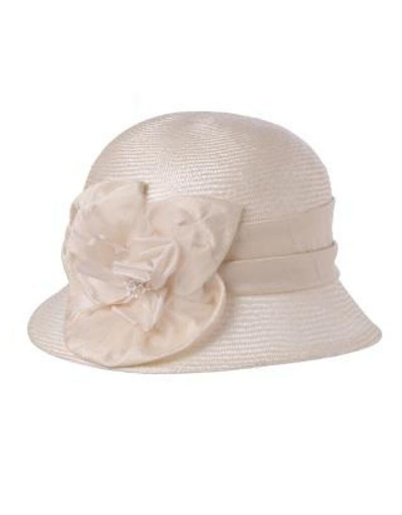 Silk Rose Cloche Ivory
