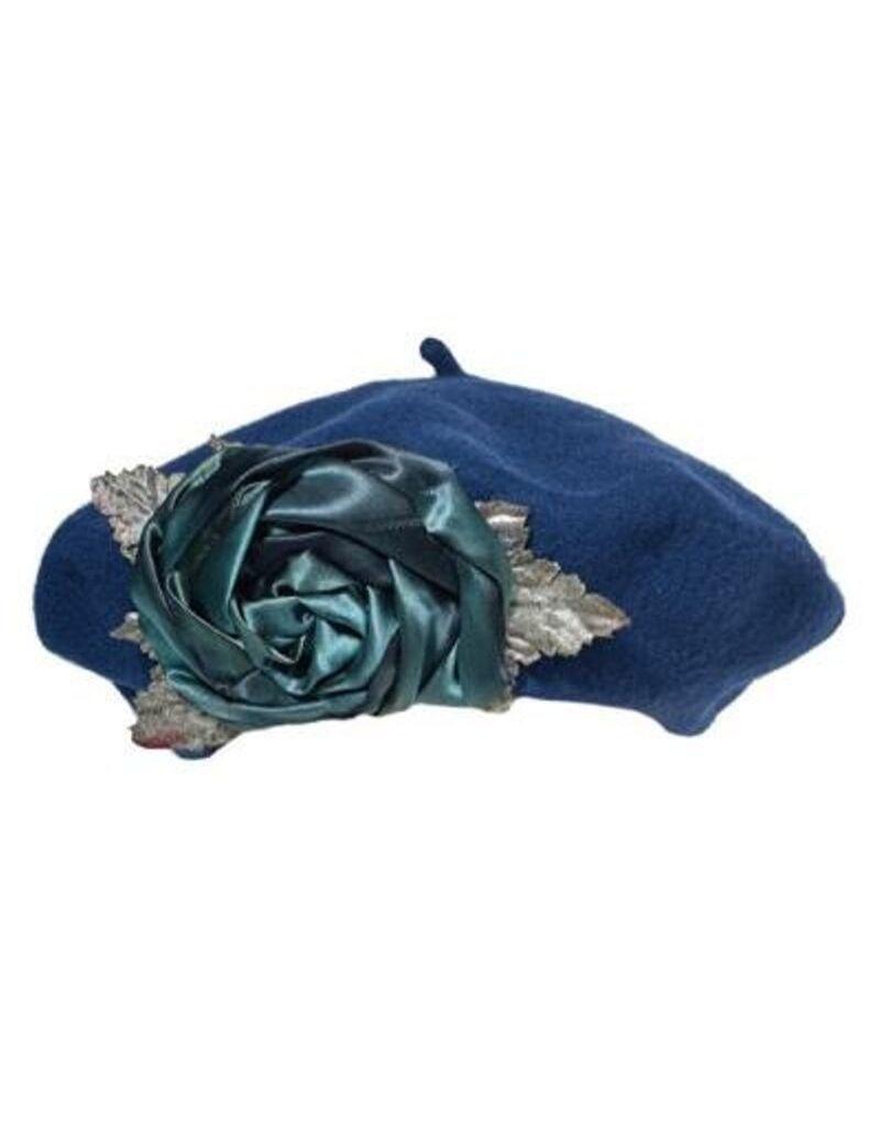 Soft Wool Rose Tam Navy