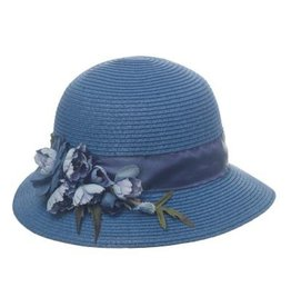 Rose Spray Cloche Blue