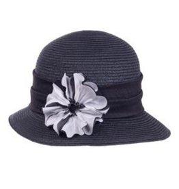 Poppy Cloche Black