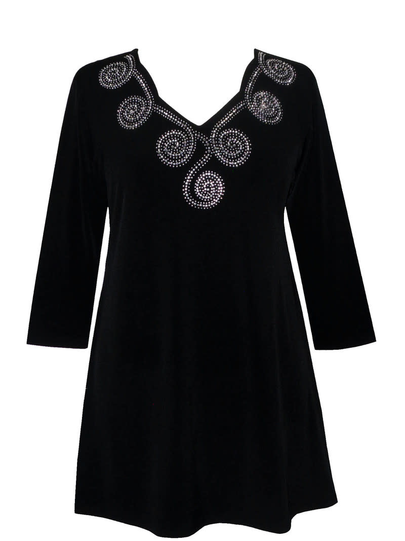 Valentina Signa Scallop Neckline with Moon Embell Tunic