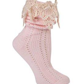 Lavish Lace Socks Pink/Ivory