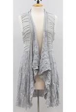 Vine Street Animal Burnout Vest Grey