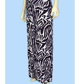 Pretty Woman Crinkle Pant in Print Zebra