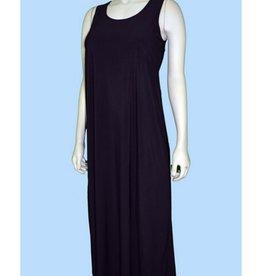 Pretty Woman Solid Long Tank Dress A Line Black