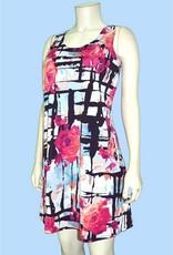 Pretty Woman Tank Style Flower Dress Pink Roses