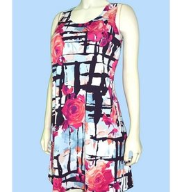 Pretty Woman Tank Style Flower Dress Pink Roses