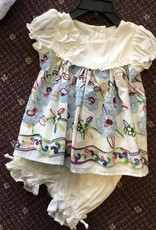 Isobella & Chloe Embroidered Bodice 2 Piece with Bloomer