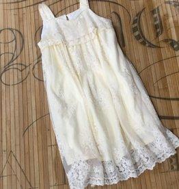 Isobella & Chloe Ivory Lace Gardenia Dress size 8