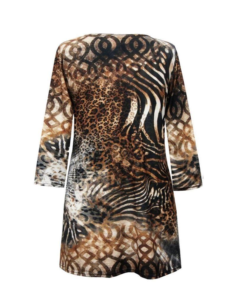 Valentina Signa 3/4 Sleeve Lycra Tunic Animal