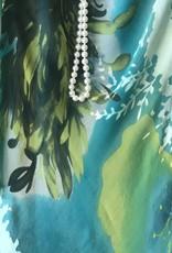 Simply Silk Silk Tea Length Dress 3/4 Sleeve Jacket Chartrese/Teal Small