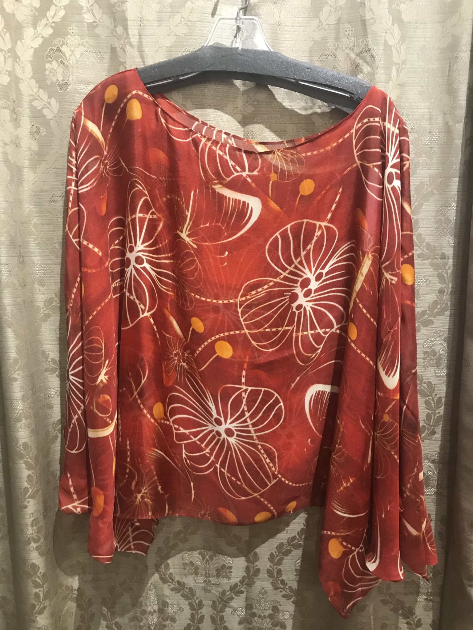Simply Silk Silk Poncho Copper One-Size