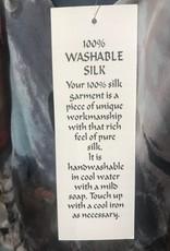Simply Silk Silk Tea Length Dress 3/4 Flutter Sleeve Jacket Floral