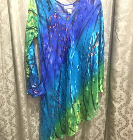 Simply Silk One Sleeve Silky Poncho Tunic