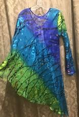 Simply Silk One Sleeve Silky Poncho Tunic