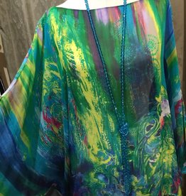 Simply Silk Silk Poncho Multi 153 One Size