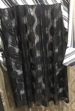 Lindi Black/White Stripped Lace Back Tunic