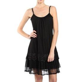 RYU Ruffled Trim Slip Dress