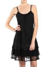 RYU Ruffled Trim Slip Dress