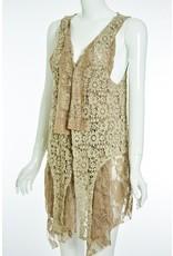 Lady Noiz Victorian Style Double Layer Vest Brown Plus