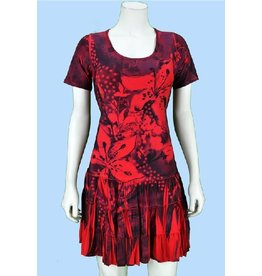 Pretty Woman Sublim Dress SSlv Ruffle Bttm