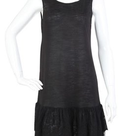 SassyBling Tank Slip Dress Ruffle Lace Bttm