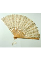 Victorian Trading Co Ivory Lace Fan