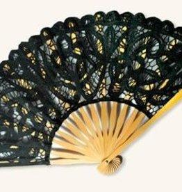Victorian Trading Co Black Lace Fan
