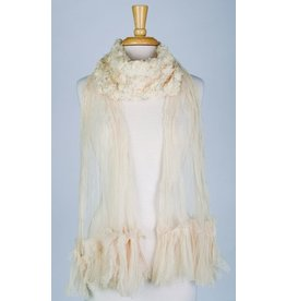 Paisley Road Rose Veil Scarf Cream