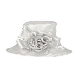 Something Special LA Medium Brim Crushable Satin Hat Silver