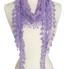 J & X Lace Scarf w/ Fringes (8 colors available)