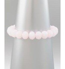 Golden Stella Crystal Stretch Bracelet Pink Opal O/S