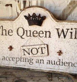 Peacock Park Design Queen Sign